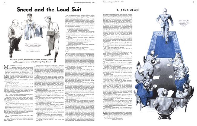 Article Preview: Sneed and the Loud Suit, March 1940 | Maclean's