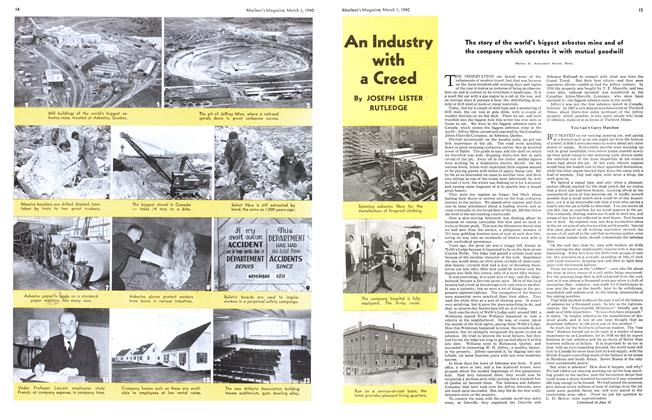 Article Preview: An Industry with a Creed, March 1940 | Maclean's