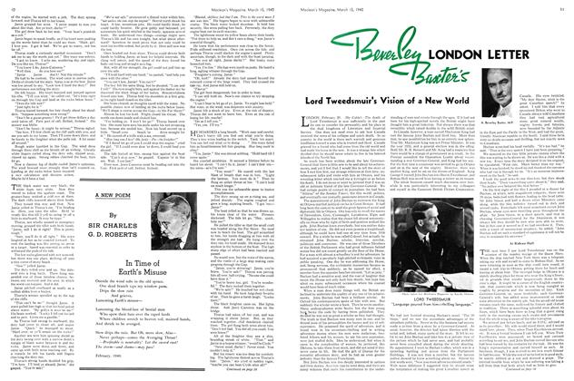 Article Preview: Beverley Baxter's LONDON LETTER, March 1940 | Maclean's