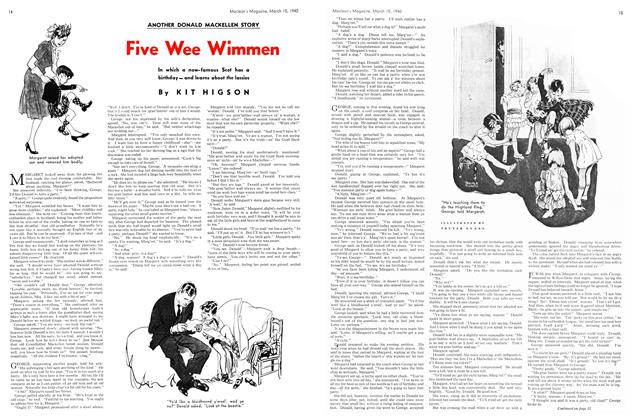 Article Preview: Five Wee Wimmen, March 1940 | Maclean's