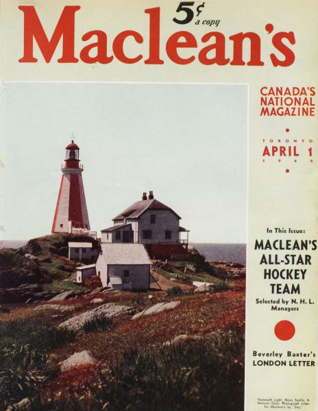 Issue: - April 1940   Maclean's