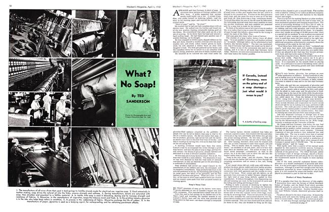 Article Preview: What? No Soap!, April 1940   Maclean's