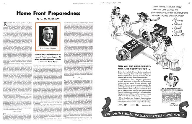 Article Preview: Home Front Preparedness, April 1940 | Maclean's