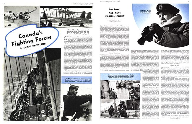 Article Preview: Canada's Fighting Forces, April 1940 | Maclean's