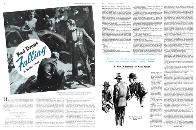Article Preview: Red Drops Falling, April 1940 | Maclean's