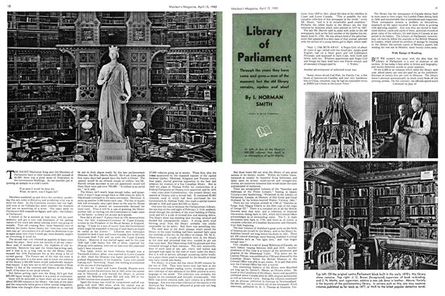 Article Preview: Library of Parliament, April 1940 | Maclean's