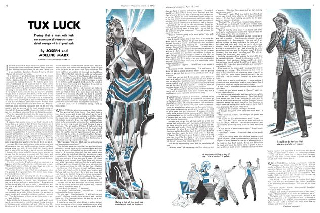 Article Preview: TUX LUCK, April 1940 | Maclean's