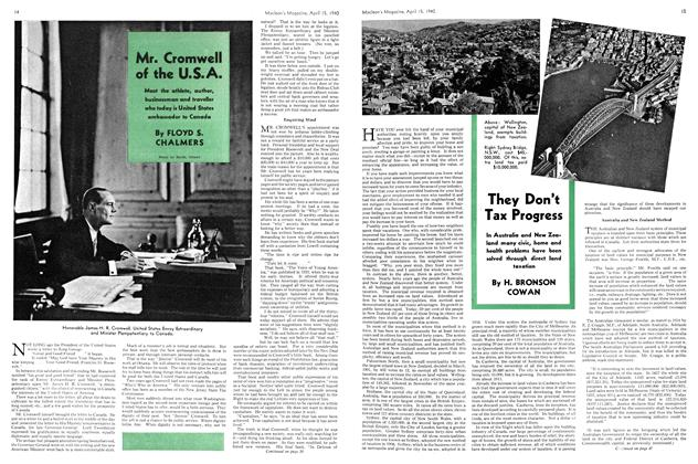 Article Preview: Mr. Cromwell of the U.S.A., April 1940 | Maclean's
