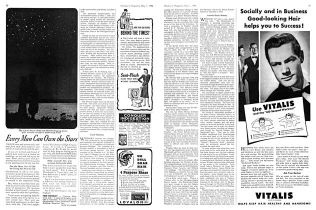 Article Preview: Advertisement, May 1940 | Maclean's