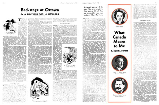 Article Preview: Backstage at Ottawa, May 1940 | Maclean's