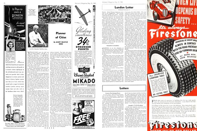 Article Preview: Planner of Cities, May 1940 | Maclean's