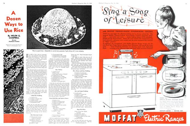 Article Preview: A Dozen Ways to Use Rice, May 1940 | Maclean's