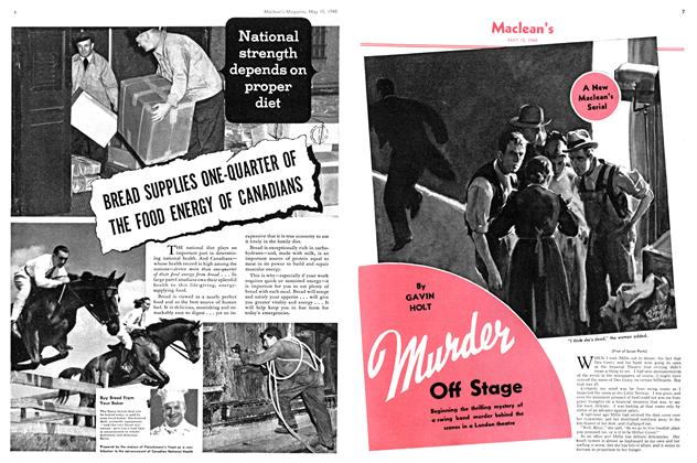 Article Preview: Murder Off Stage, May 1940 | Maclean's