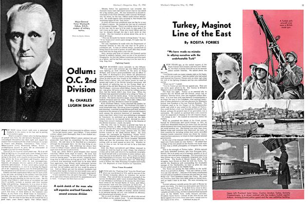 Article Preview: Turkey, Maginot Line of the East, May 1940 | Maclean's