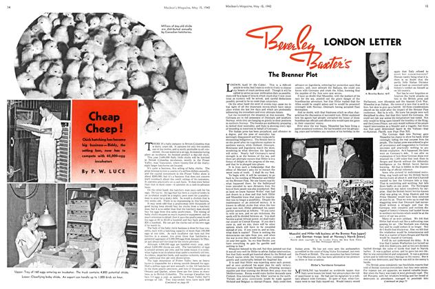 Article Preview: Cheap Cheep!, May 1940 | Maclean's