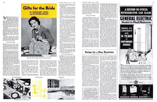 Article Preview: Gifts for the Bride, June 1940 | Maclean's