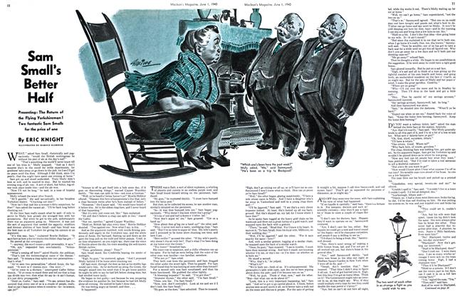 Article Preview: Sam Small's Better Half, June 1940 | Maclean's