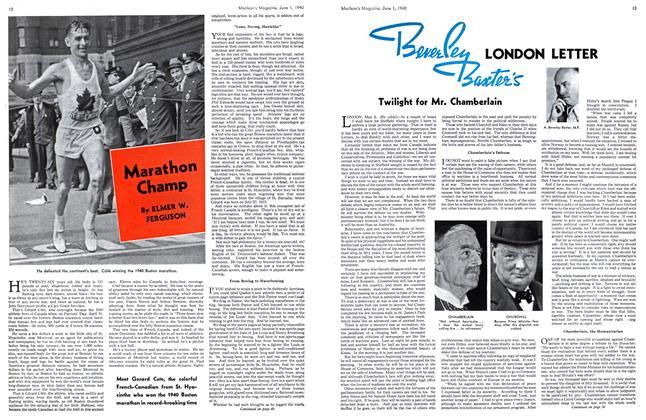 Article Preview: Marathon Champ, June 1940   Maclean's