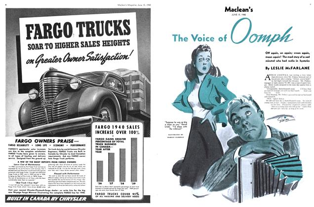 Article Preview: The Voice of Oomph, June 1940 | Maclean's