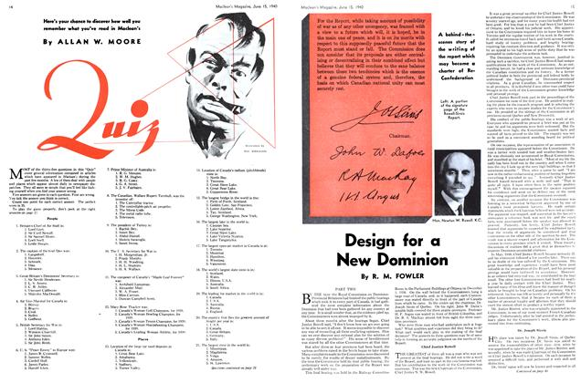Article Preview: Design for a New Dominion, June 1940   Maclean's