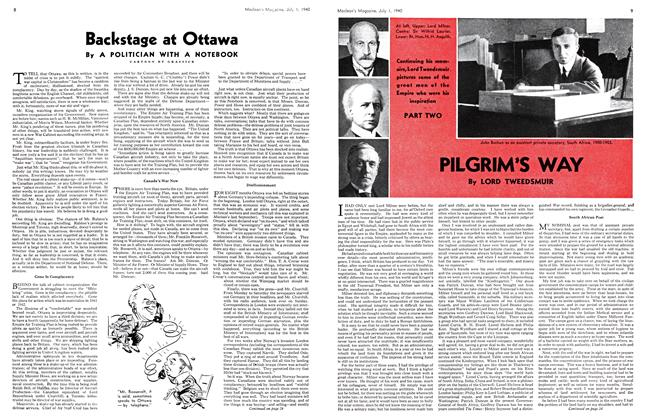 Article Preview: Backstage at Ottawa, July 1940 | Maclean's