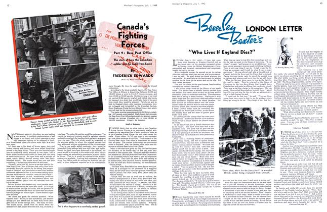 Article Preview: Canada's Fighting Forces, July 1940 | Maclean's