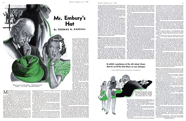 Article Preview: Mr. Embury's Hat, July 1940   Maclean's