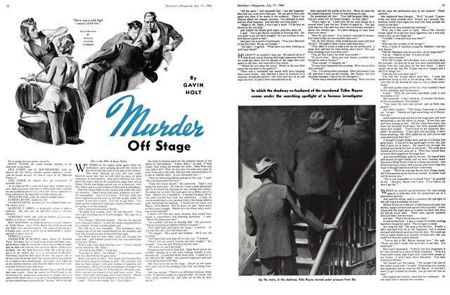 Article Preview: Murder Off Stage, July 1940 | Maclean's