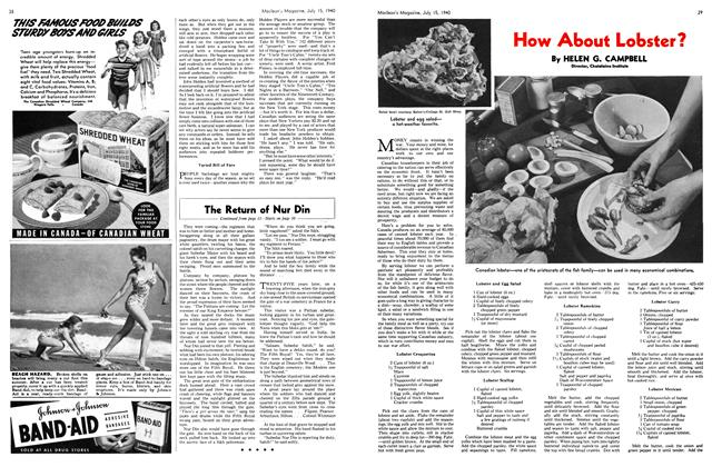 Article Preview: How About Lobster?, July 1940 | Maclean's