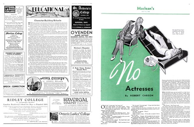 Article Preview: no Actresses, July 1940 | Maclean's