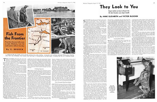 Article Preview: Fish From the Frontier, August 1940 | Maclean's