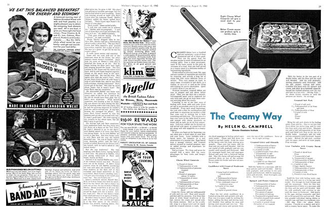 Article Preview: The Creamy Way, August 1940 | Maclean's