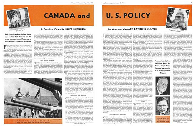 Article Preview: CANADA and U.S. POLICY, August 1940 | Maclean's