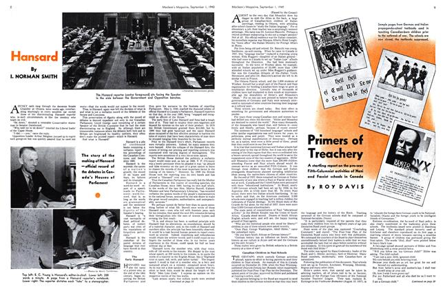Article Preview: Hansard, September 1940 | Maclean's