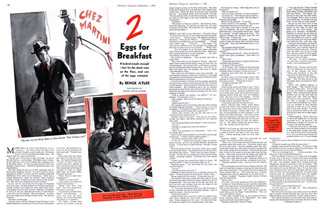 Article Preview: 2 Eggs for Breakfast, September 1940 | Maclean's