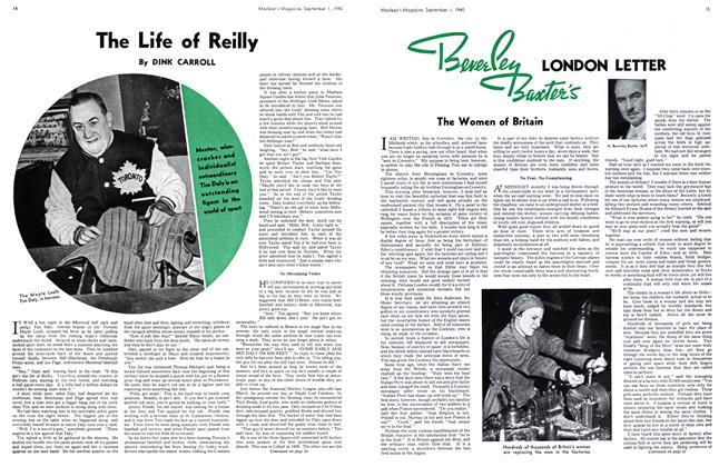 Article Preview: The Life of Reilly, September 1940 | Maclean's