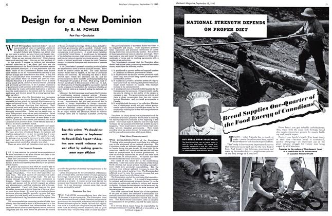 Article Preview: Design for a New Dominion, September 1940 | Maclean's