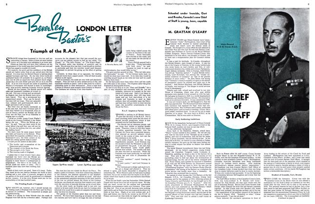 Article Preview: Beverley Baxter's LONDON LETTER, September 1940 | Maclean's