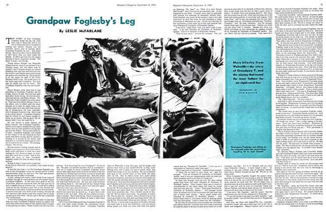 Article Preview: Grandpaw Foglesby's Leg, September 1940 | Maclean's