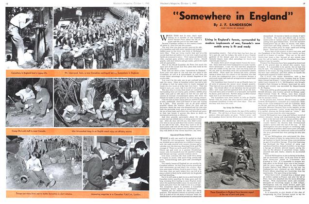 "Article Preview: ""Somewhere in England"", October 1940 