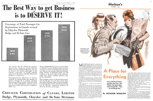 Article Preview: A Place for Everything, October 1940 | Maclean's