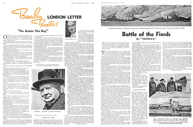 "Article Preview: ""For Action This Day"", October 1940 