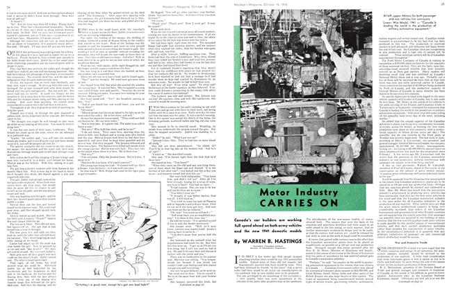 Article Preview: Motor Industry CARRIES ON, October 1940 | Maclean's