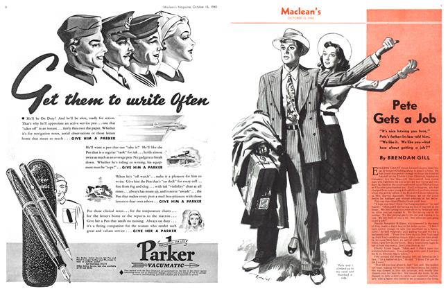 Article Preview: Pete Gets a Job, October 1940 | Maclean's