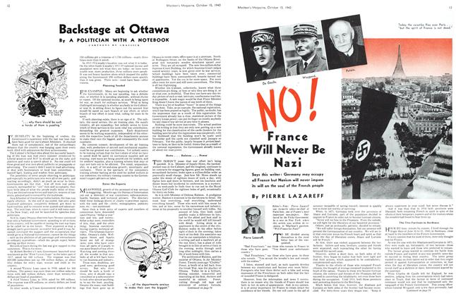 Article Preview: Backstage at Ottawa, October 1940 | Maclean's
