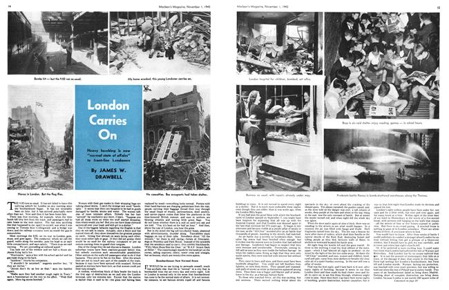 Article Preview: London Carries On, November 1940 | Maclean's