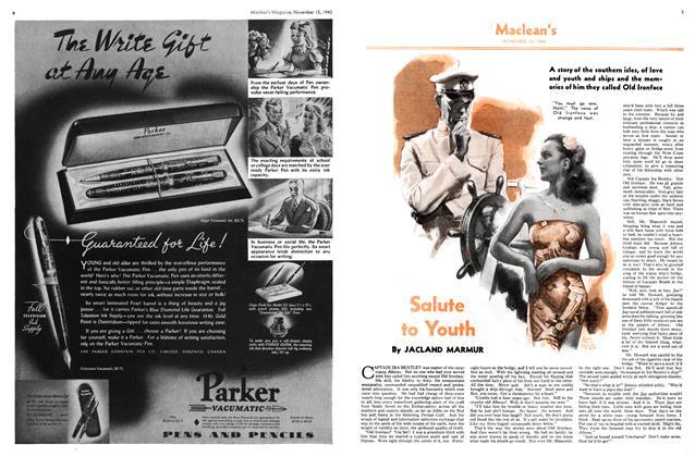Article Preview: Salute to Youth, November 1940 | Maclean's