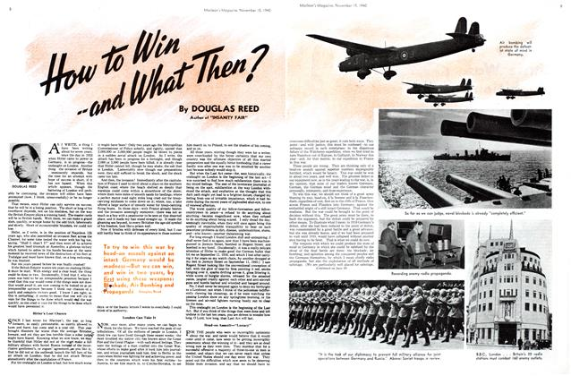 Article Preview: How to Win and What Then?, November 1940 | Maclean's