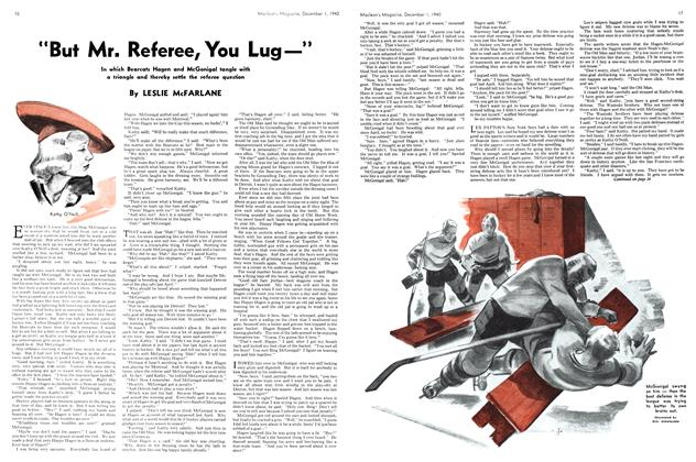 "Article Preview: ""But Mr. Referee, You Lug—"", December 1940 