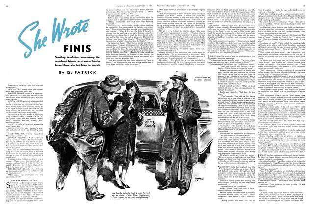 Article Preview: She Wrote FINIS, December 1940 | Maclean's